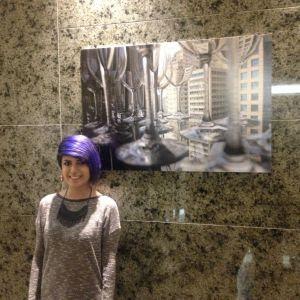 Aluna Samyra e sua foto