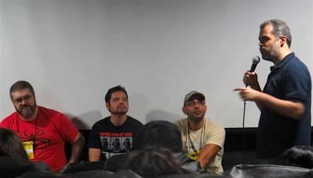 Com Paulo Martini mediando o painel sobre animação na SCE 2015.