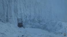 Bran e Meera chegando na Muralha