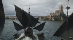 Frota Greyjoy chegando a Fortaleza Vermelha